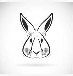 rabbit head design on white background wild vector image