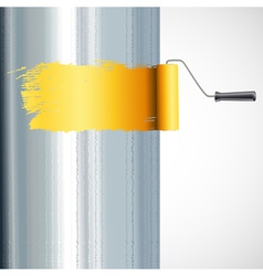 roller brush painting vector image