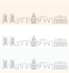 Sacramento hand drawn skyline vector