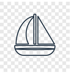 sailboat concept linear icon isolated on vector image