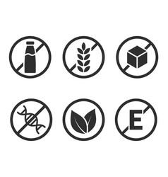 set product icons vector image