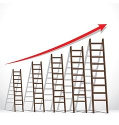 stair arrange in increase market graph concept vector image