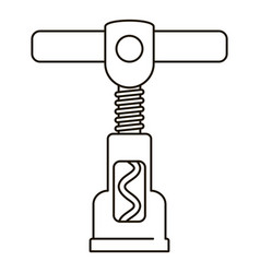 steel corkscrew icon outline style vector image