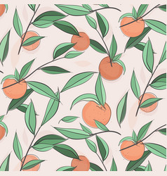 summer fruit peach banner sketch vector image