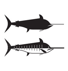 Swordfish or marlin icon vector