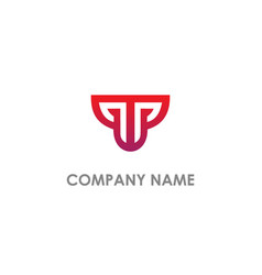 t initial business company logo vector image