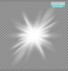the sun s light effect sun rays vector image