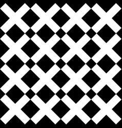 Tile black and white x cross pattern vector
