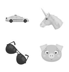 Transport police and other monochrome icon in vector