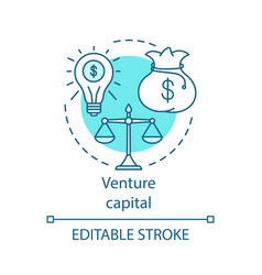 Venture capital concept icon vector