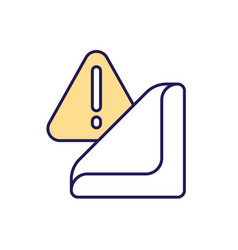 Warning sticker rgb color icon vector