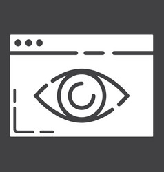 web visibility glyph icon seo and development vector image