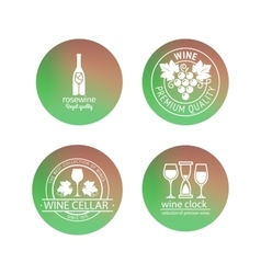Wine logos in blurred circles backgrounds vector image