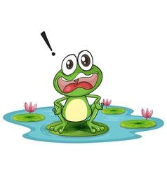 Worried Cartoon Frog vector image