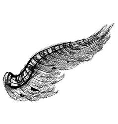 black wing vector image vector image