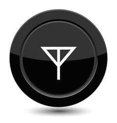 Button with antena sign vector image vector image