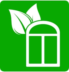 icon with window and leaf vector image
