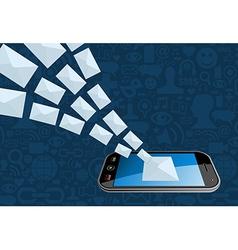Phone email marketing icon splash vector image vector image