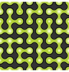 Rounded maze seamless pattern vector image