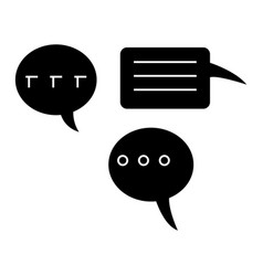 chats icon black sign on vector image vector image