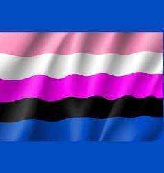 gender fluid symbol people vector image