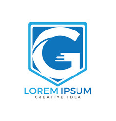 letter g business logo design template vector image