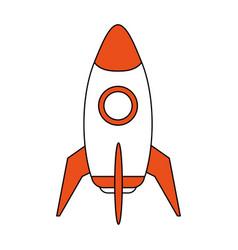 space rocket launch icon vector image