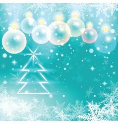 Winter holiday of christmas balls and fir tree vector image