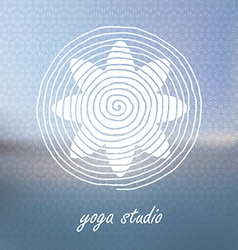 Yoga logo on Blured background Flower shaped vector image vector image