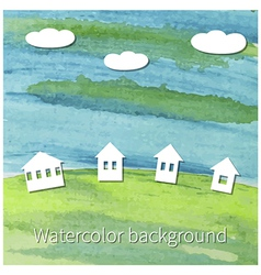 countryside vector image vector image