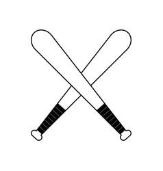 figure baseball bats to play icon vector image vector image