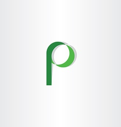 green p letter symbol logotype element icon vector image