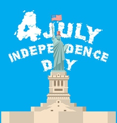 Independence day of america statue of liberty vector
