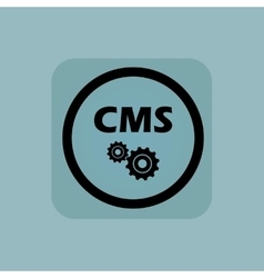 Pale blue CMS settings sign vector image vector image