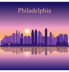 Philadelphia city skyline silhouette background vector image vector image