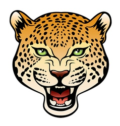 Tribal leopard color vector image vector image