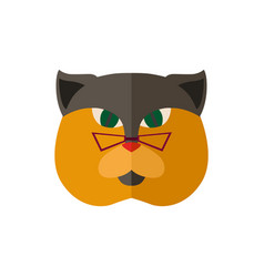 british cat head with glasses icon vector image vector image