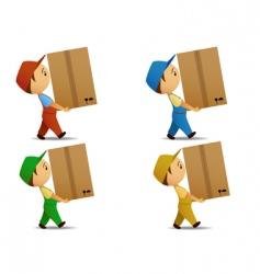 Delivery boy vector image vector image