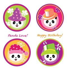 fun panda vector image vector image