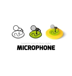 Microphone icon in different style vector image