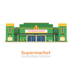 supermarket or grocery store building vector image
