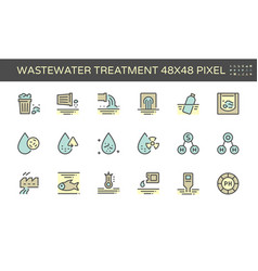 20180703 waste water icon 48x48 blue vector
