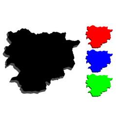 3d map of andorra vector