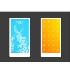 abstract colored background with plus shapes and vector image