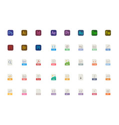 All file types icon you need adobe programes vector