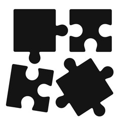 Alzheimer puzzle test icon simple style vector