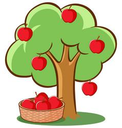 Apple tree on white background vector