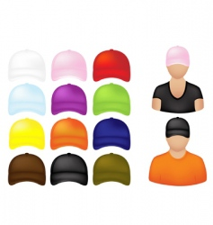 baseball cap icons vector image