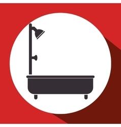 bathtub bathroom isolated icon vector image