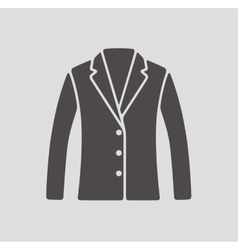 Business jacket icon on background vector image